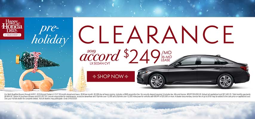 Pre-Holiday Clearance Accord