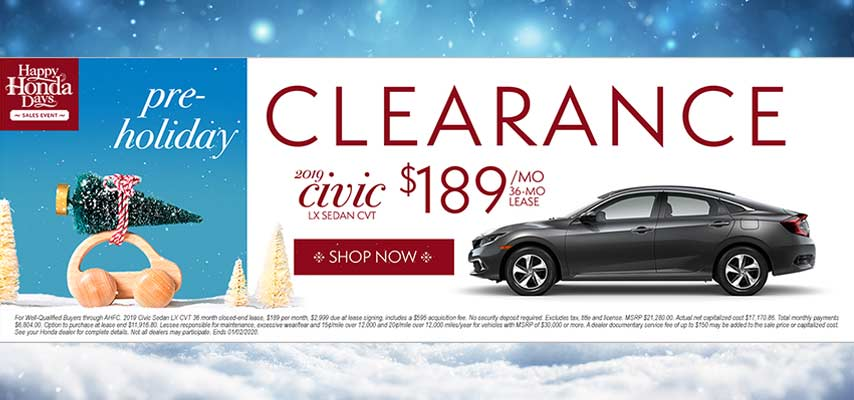 Pre-Holiday Clearance Civic