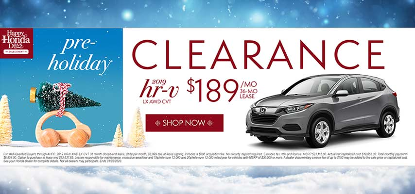 Pre-Holiday Clearance HR-V