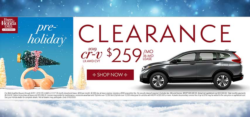Pre-Holiday Clearance CR-V