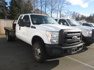 2011 Ford F350 Extd Cab 4x4 8ft Flatbed
