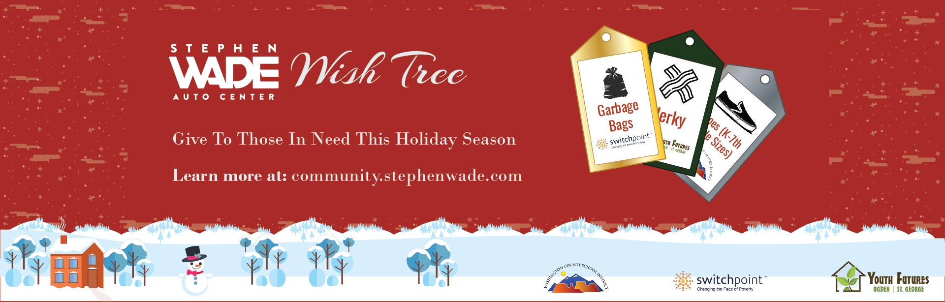 Stephen Wade Auto Center Wish Tree