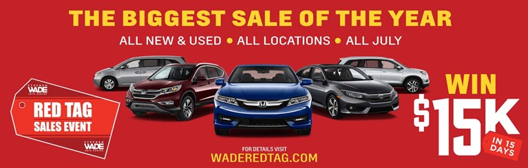 July Red Tag Sales Event