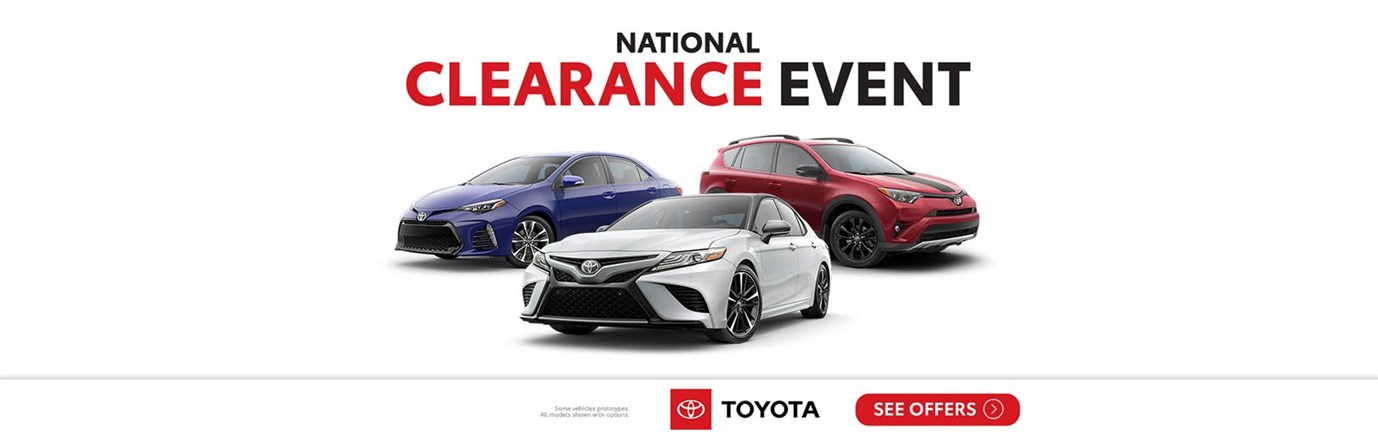 National Clearance Event on Camry, Corolla, and RAV4