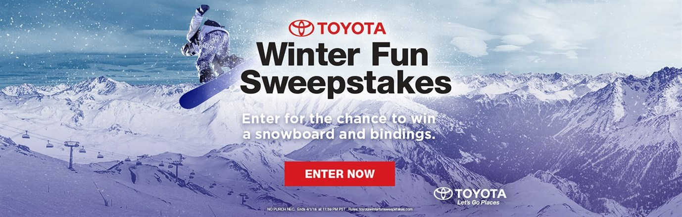 Enter In Winter Fun Sweepstakes