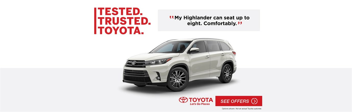 Tested Trusted Toyota 2018 Highlander July