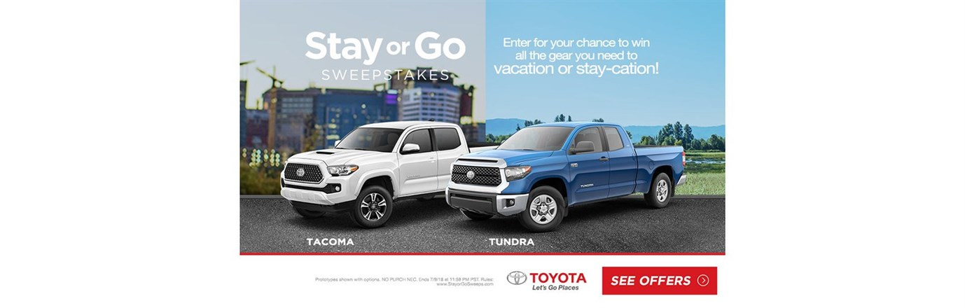 Stay Or Go In a New Tacoma or Tundra