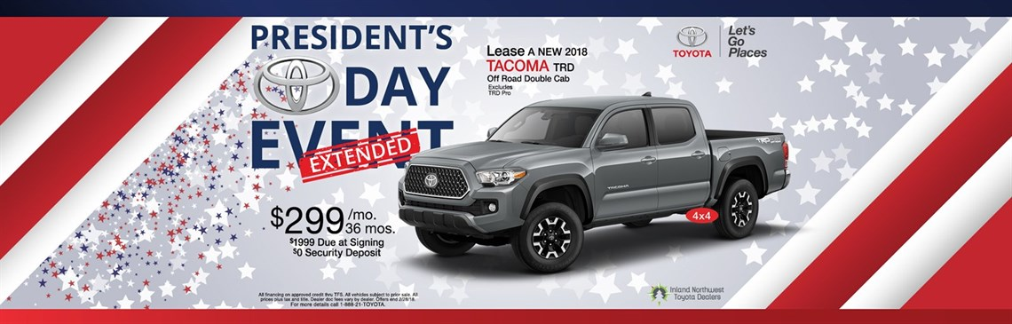 Presidents Day Extended Tacoma