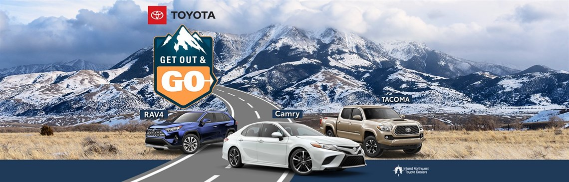 Get Out and Go with RAV4, Camry, and Tacoma