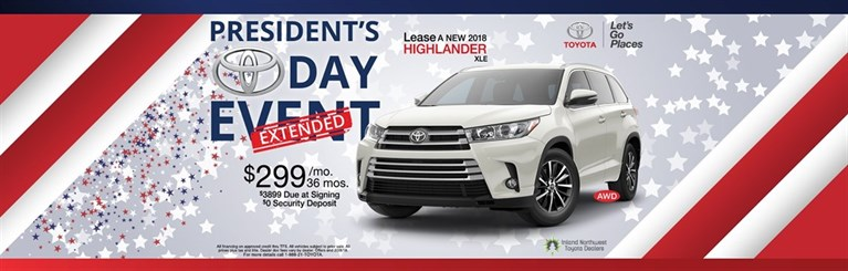 Lease a New 2018 Highlander
