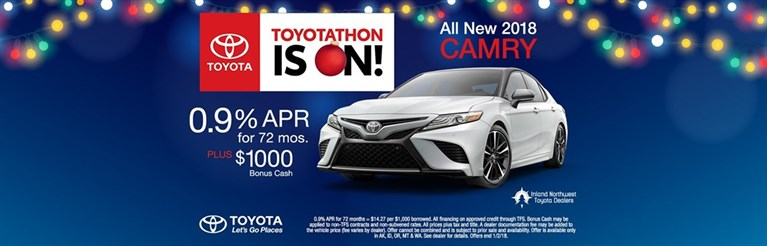 Toyotathon Is On! All New 2018 Camry