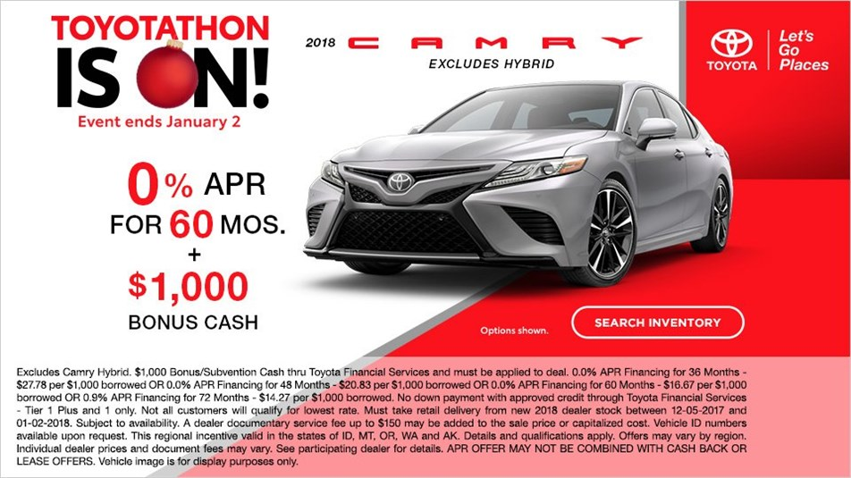 Toyotathon Is On! Camry APR
