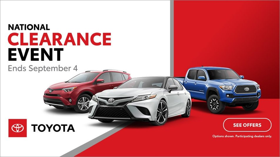 National Clearance Event on RAV4, Camry, and Tacoma